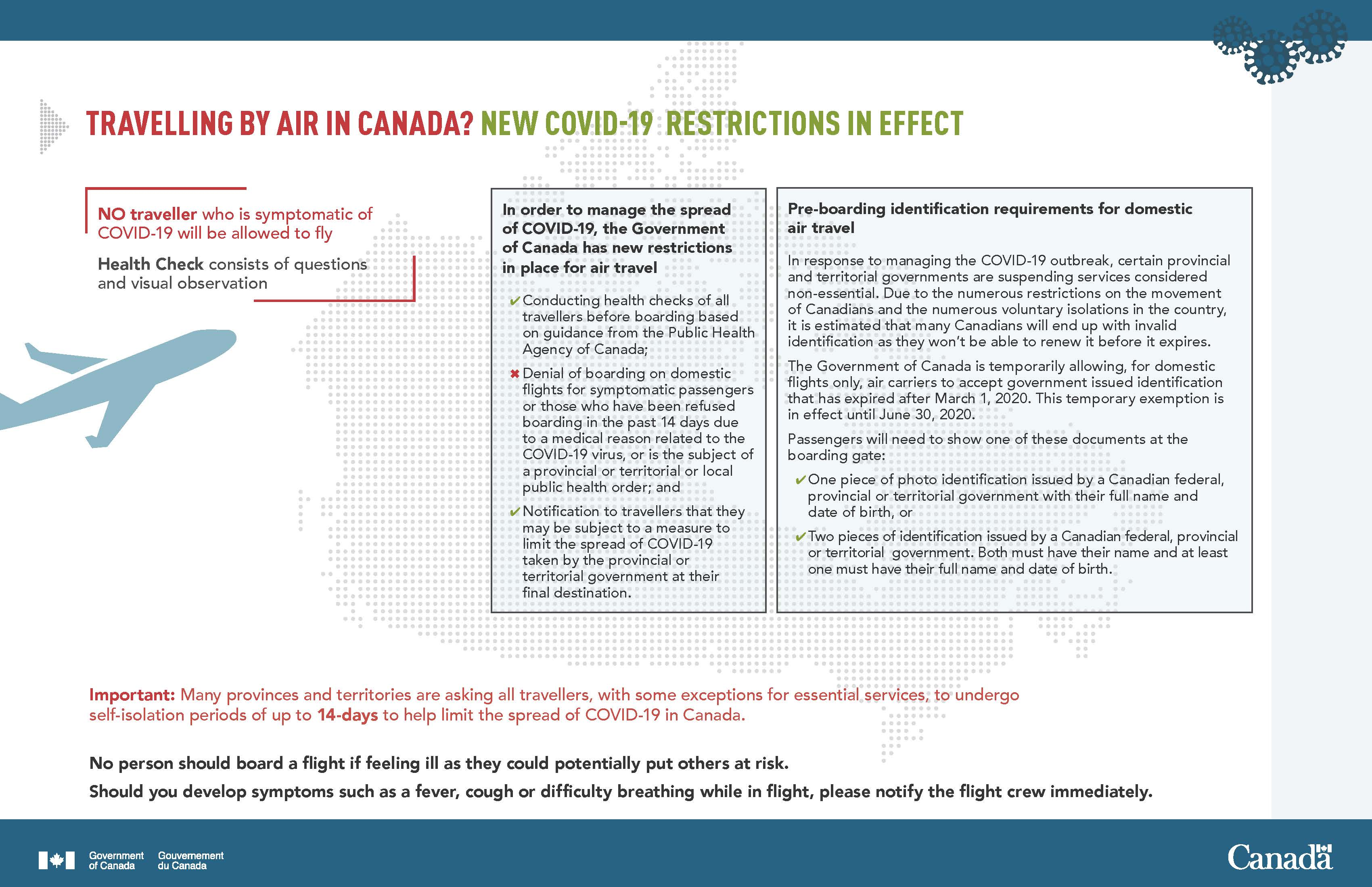TRAVELLING BY AIR IN CANADA? NEW COVID-19 RESTRICTIONS IN EFFECT